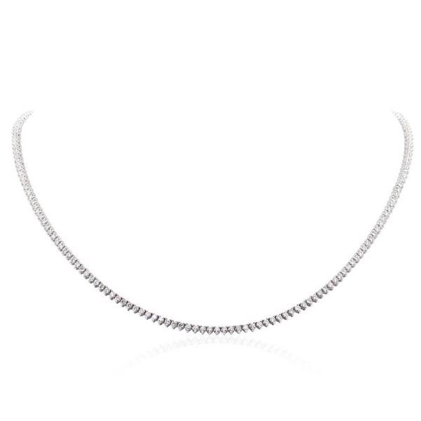 14KT White Gold 5.67 ctw Diamond Necklace