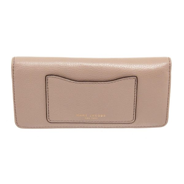 Marc Jacobs Taupe Leather Recruit Open Face Wallet