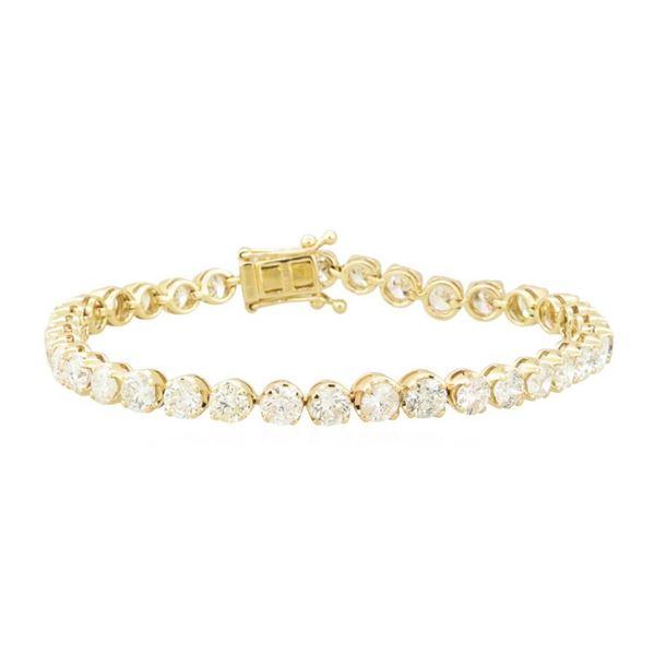 11.19 ctw Diamond Tennis Bracelet - 14KT Yellow Gold