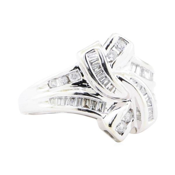 0.65 ctw Diamond Fluid Motion Split Shank Channel Set Ring - 10KT White Gold