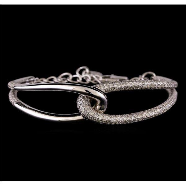 3.48 ctw Diamond Bracelet - 14KT White Gold