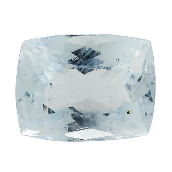 7.25 ct.Natural Rectangle Cushion Cut Aquamarine