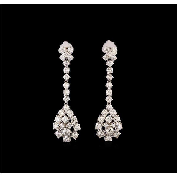 14KT White Gold 2.61 ctw Diamond Earrings