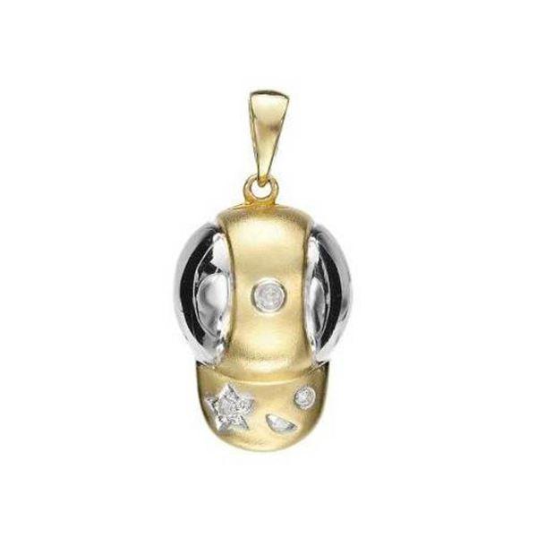 14k Yellow Gold 0.03CTW Diamond Pendant, (SI1-SI2/K-L)