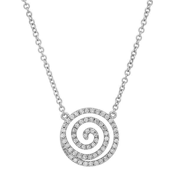 18k Gold 0.28CTW Diamond Necklace, (SI1-SI2/G-H)
