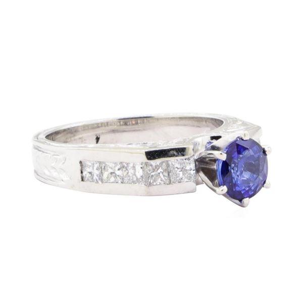 1.76 ctw Sapphire And Diamond Ring - Platinum