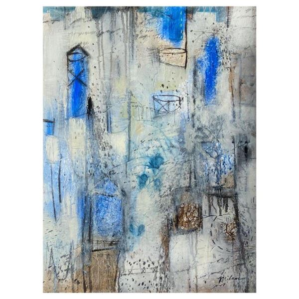 Abstract Study In Blue by Milan Original