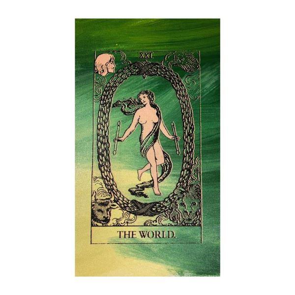 Tarot, The World by Steve Kaufman (1960-2010)