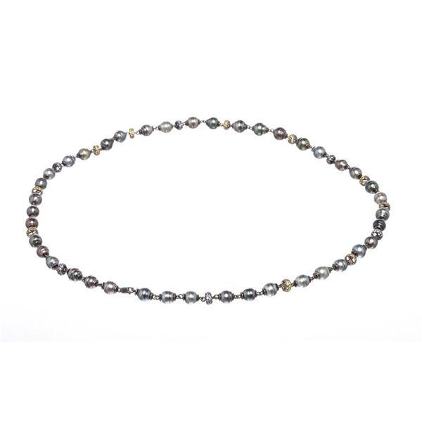 Tahitian Circle Pearl Long Necklace