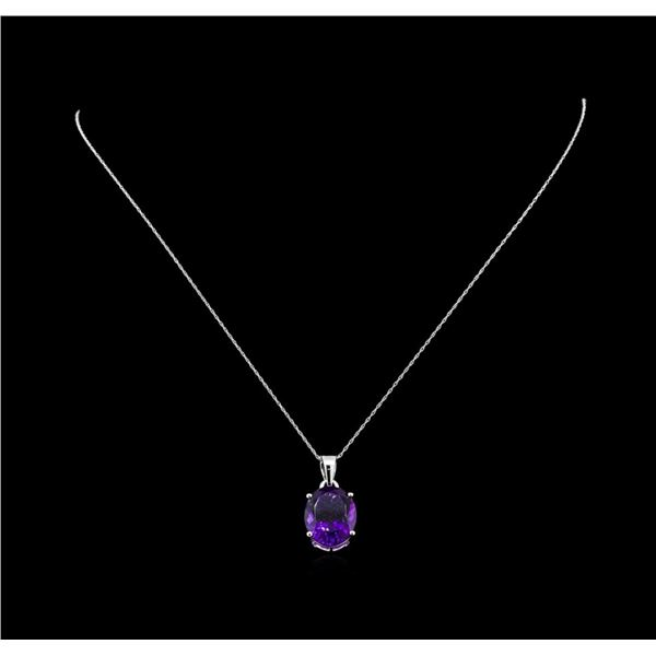 Crayola 8.80 ctw Amethyst Pendant With Chain - 14K White Gold