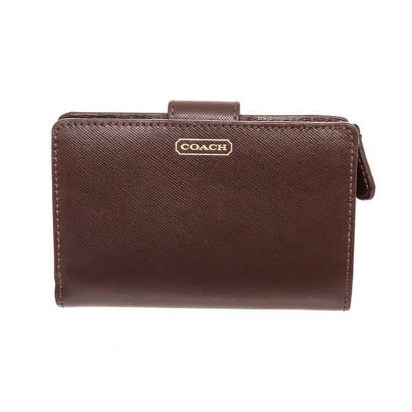 Coach Brown Darcy Leather Tab Wallet