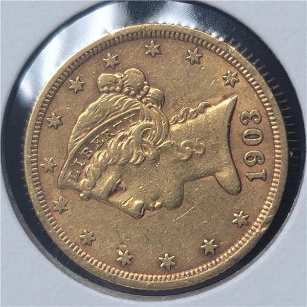 1903-S $5 Liberty Head Half Eagle AU