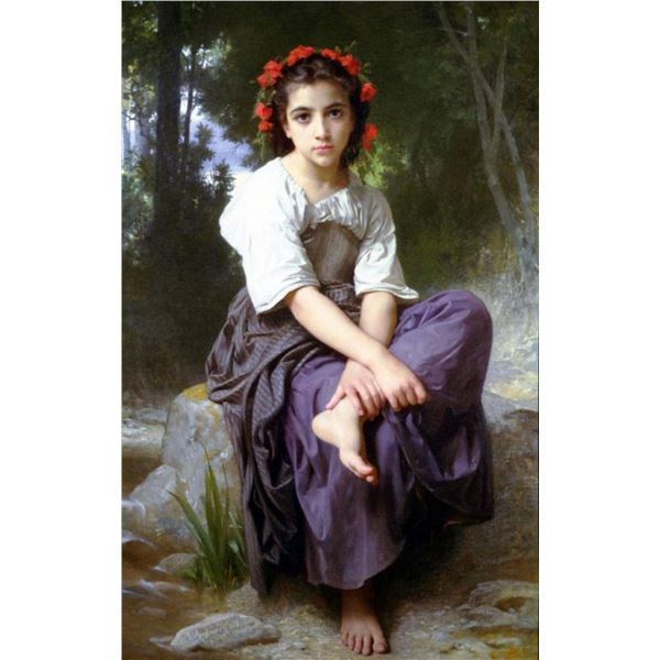 William Bouguereau - At the Edge of the Brook 2