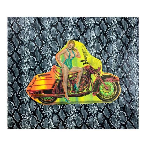 Biker Gal by Steve Kaufman (1960-2010)