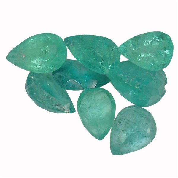 3.49 ctw Pear Mixed Emerald Parcel