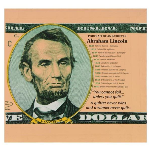 Abraham Lincoln, Portrait of an Achiever by Steve Kaufman (1960-2010)