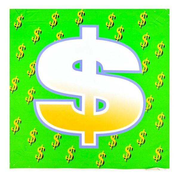 Dollar Sign (Green Bold) by Steve Kaufman (1960-2010)