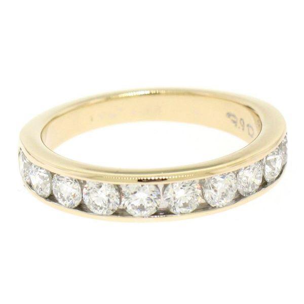 14k Yellow Gold 1.05 ctw Round Diamond Band Ring