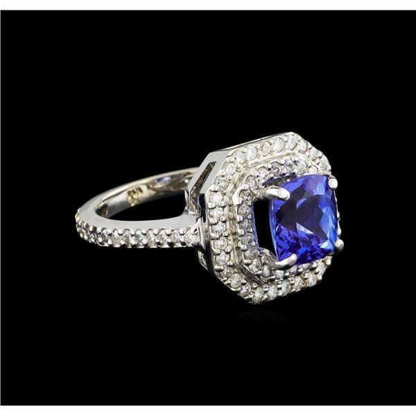 14KT White Gold 2.00 ctw Tanzanite and Diamond Ring