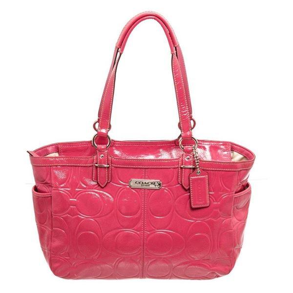 Coach Pink Patent leather Medium Shoulder Bag
