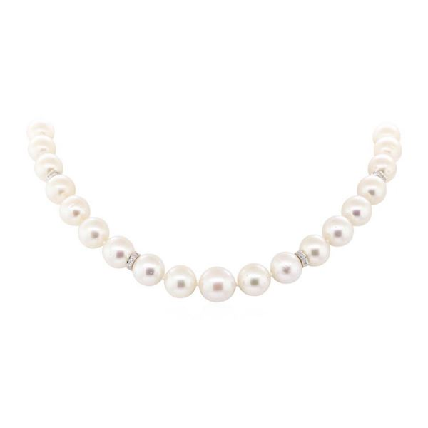 0.60 ctw Diamond and South Sea Pearl Necklace