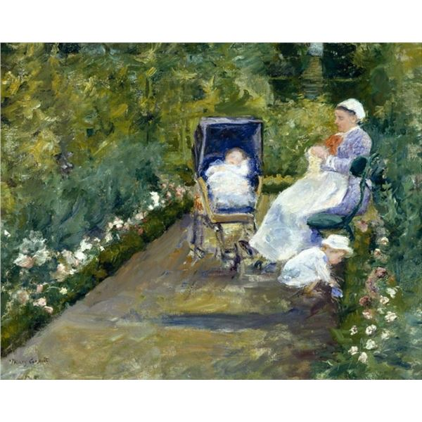 Cassatt - Children in the Garden with Nanny