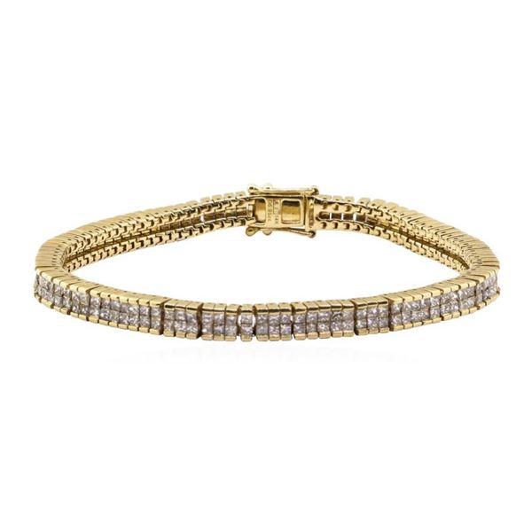 5.95 ctw Diamond Bracelet - 14KT Yellow Gold