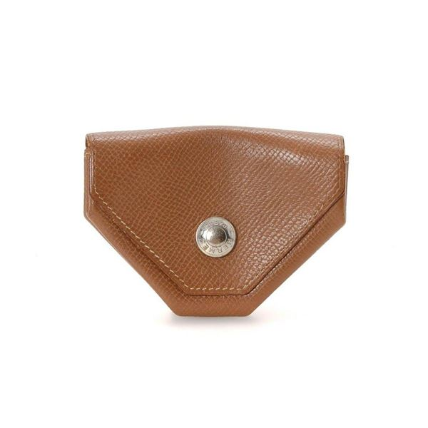 Hermes Tan Leather Coin Purse Wallet