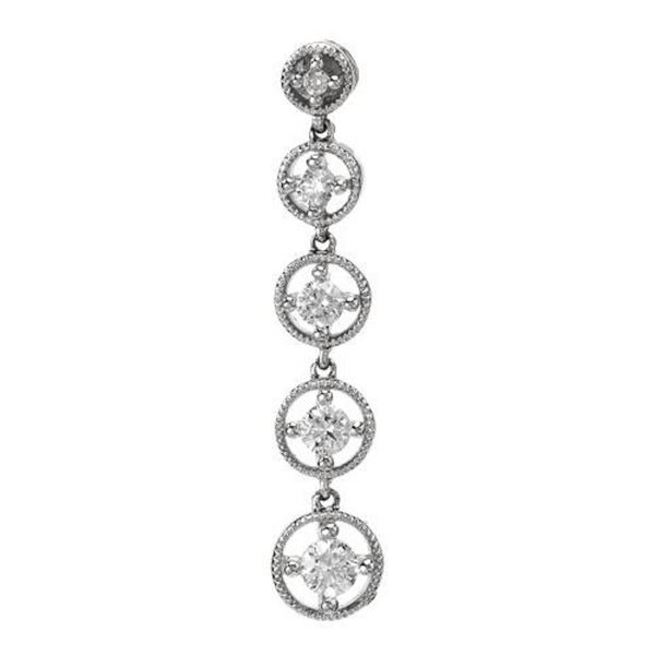 14k White Gold 0.50 ctw Diamond Pendant, (I1/G-H)