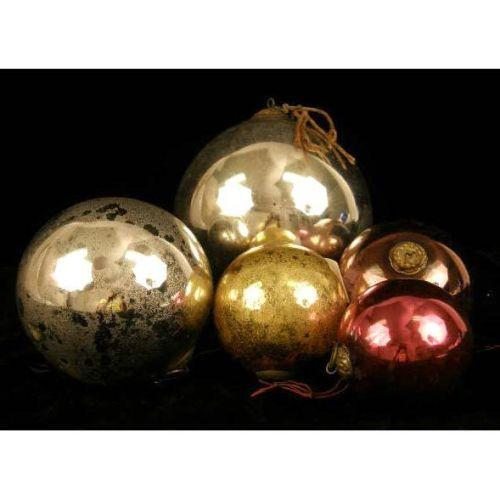 A Group Of Five Kugel Christmas Ornaments