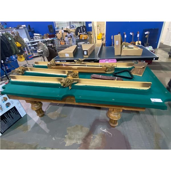 """POOL TABLE ASSEMBLY REQUIRED APPROX. 95"""" X 52"""""""