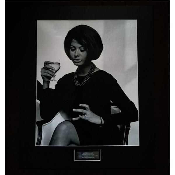 RAY BELLISARIO (1936-2018): 'Sophia Loren holding wine glass'.