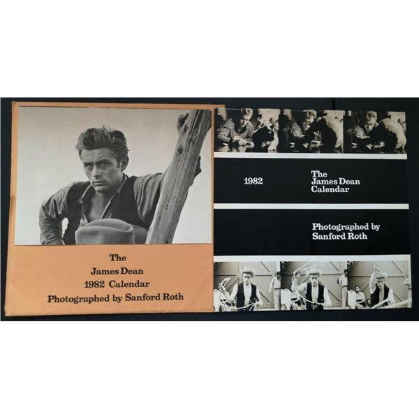 OFFICIAL JAMES DEAN 1982 SANFORD ROTH CALENDAR AND JAPANASE 1980 POSTER.