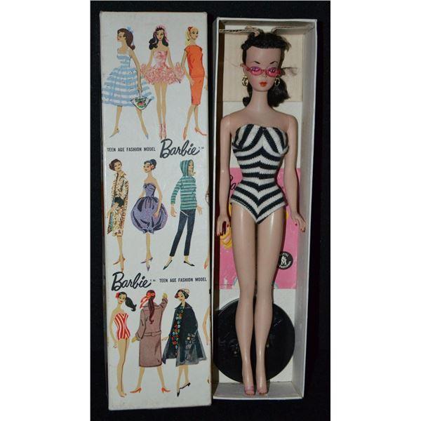 Mattel 1959 Barbie Doll 850 Brunette.