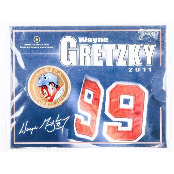 RCM 'Wayne Gretzky' 2011 25 Cents Coin with  Folio