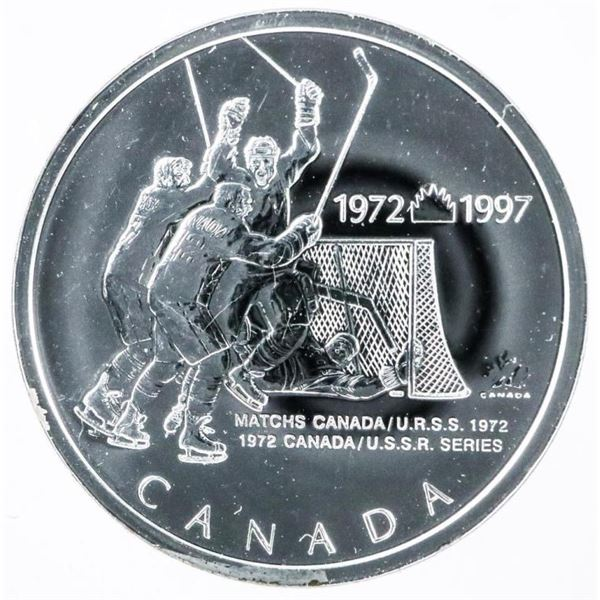 925 Sterling Silver Pin Hockey Canada -  Russia 1972
