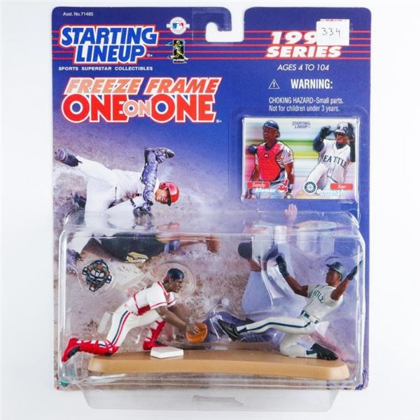 Starting Line Up - Sandy Alomar and Ken  Griffey Jr with Cards