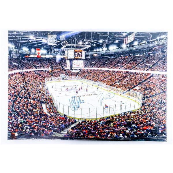 20x29 Canvas - Edmonton Oilers Signed, Taylor  Hall, Nail Yakupov