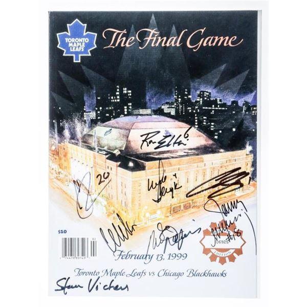 The Final Game Program - LE Feb 13, 1999 8  Signatures, Includes Cujo, Wendel Clark, Ron  Ellis, Mik
