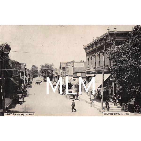 Silver City, New Mexico North Bullard Street Drug Store Photo Postcard