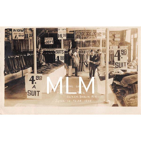 So. New Berlin, New York Clothing Sale Store Interior Photo Postcard
