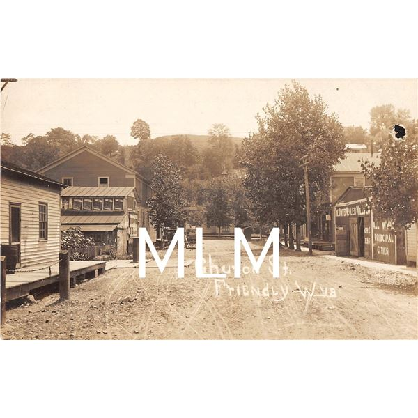 Church St. Friendly West Virginia Photo Street Scene Postcard