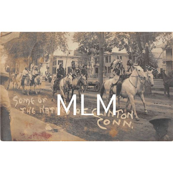 American Indian Clinton, Connecticut Parade Photo Postcard
