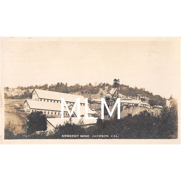 Kennedy Mine Jackson, California Photo Postcard
