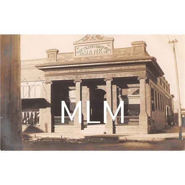 Texico National Bank New Mexico Territorial Photo Postcard
