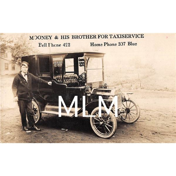 Mooney & His Brother For Taxiservice Cab Photo Postcard