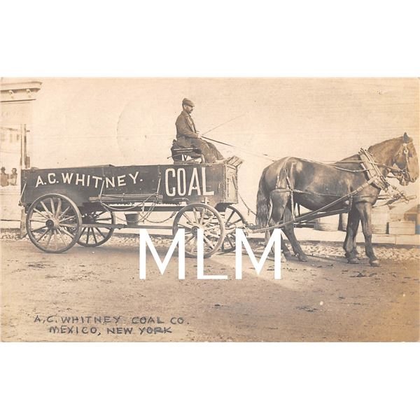A. C. Whitney Coal Co. Delivery Wagon Mexico, New York Photo Postcard
