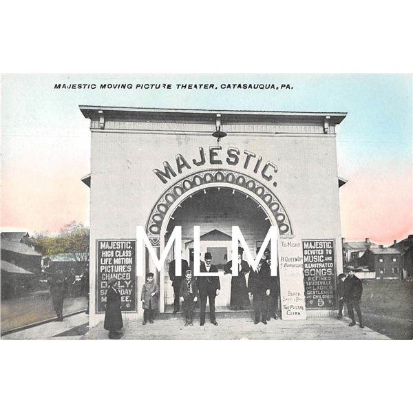 Majestic Moving Picture Theater Catasauqua, Pennsylvania Postcard