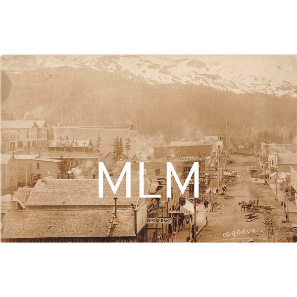 Cordova, Alaska Street Scene Photo Postcard