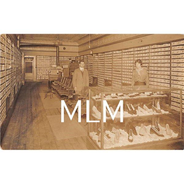 Interior Display of Shoe Store Photo Postcard